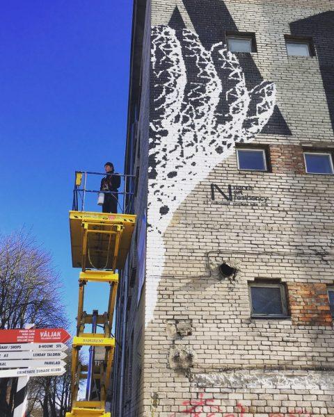 Открытие мурала Шимона Кула «Нарциссизм» на TMW